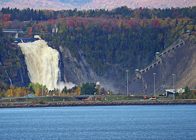 Photograph - Montmorency Falls by Farol Tomson
