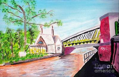 Painting - Monton Bridge by Audrey Pollitt