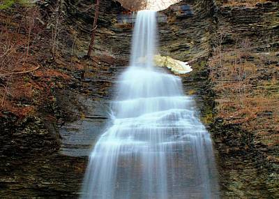 Photograph - Montour Falls And Snow Patch by Catie Canetti