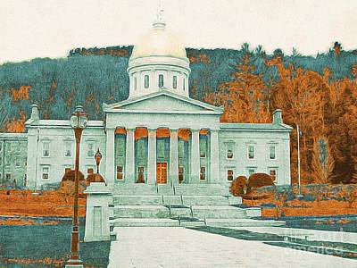 Photograph - Montpelier State Capitol - Vt by Marcia Lee Jones