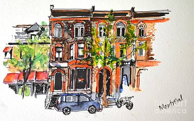Painting - Montreal 1 by Betty M M Wong