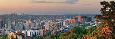 Photograph - Montreal At Dusk Panorama by Songquan Deng