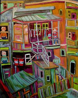 Painting - Montreal Back Lanes Everywhere. by Michael Litvack