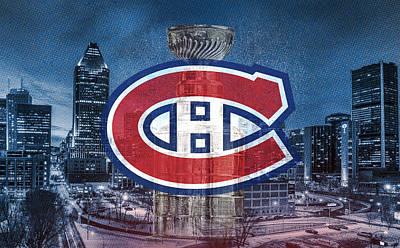 Montreal Canadiens Digital Art - Montreal Canadiens City by Nicholas Legault