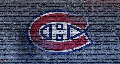 Montreal Canadiens Digital Art - Montreal Canadiens Wall by Nicholas Legault