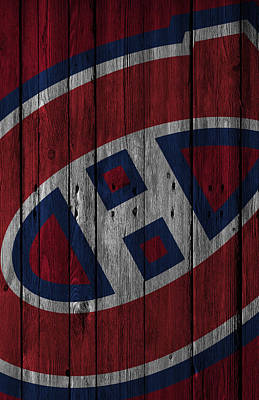 Digital Art - Montreal Canadiens Wood Fence by Joe Hamilton
