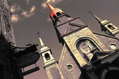 Photograph - Old Montreal Chapel Notre Dame De Bonsecours by Art America Gallery Peter Potter