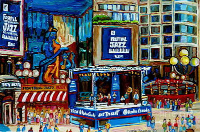 Montreal City Paintings By Streetscene Specialist Carole Spandau  Over 500 Prints Available Original