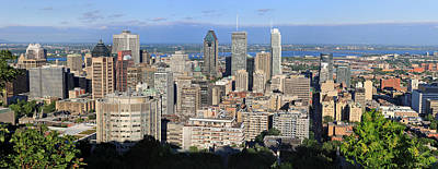 Photograph - Montreal City Panorama From Mount Royal Quebec Canada by Pierre Leclerc Photography