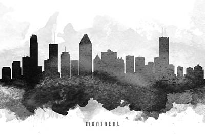 Quebec Cities Painting - Montreal Cityscape 11 by Aged Pixel