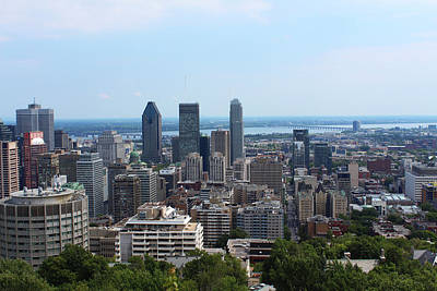 Photograph - Montreal Cityscape by Samantha Delory