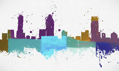 Painting - Montreal Colorful Skyline by Dan Sproul