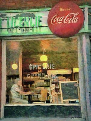 Painting - Montreal Corner Shop by Jeffrey Kolker