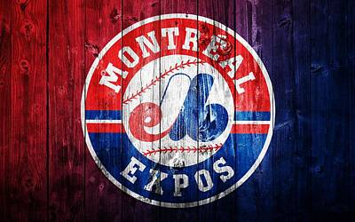 Canadian Sports Mixed Media - Montreal Expos Barn Door by Dan Sproul