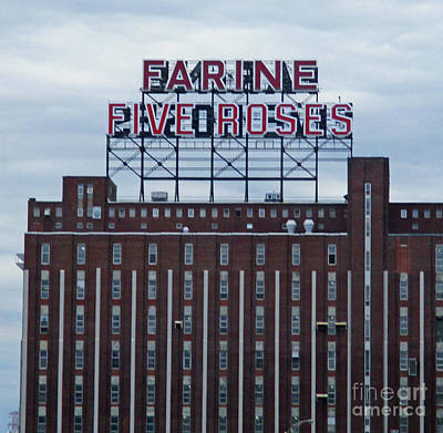 Montreal Landmarks Photograph - Montreal Five Roses by Randall Weidner