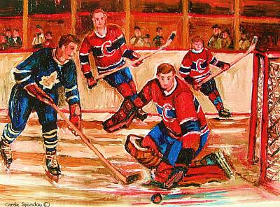 Painting - Montreal Forum Hockey Game by Carole Spandau
