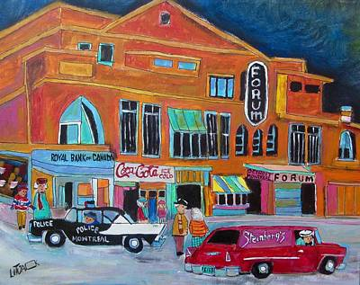Chevrolet Sedan Delivery Painting - Montreal Forum Icon 1958 by Michael Litvack