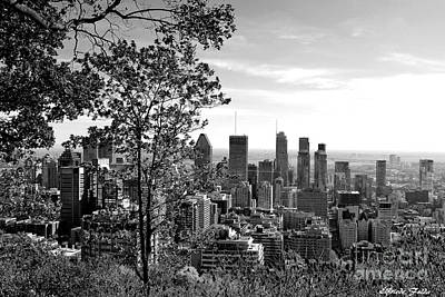 Photograph - Montreal In Black And White by Elfriede Fulda