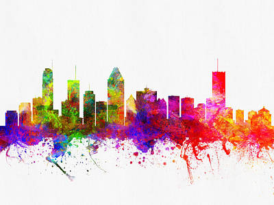 Montreal Cityscapes Digital Art - Montreal Quebec Skyline Color02 by Aged Pixel