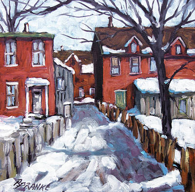Poppy Seed Painting - Montreal Scene 02 By Prankearts by Richard T Pranke