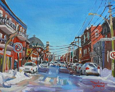 Outremont Painting - Montreal Scene Darlene Young by Darlene Young