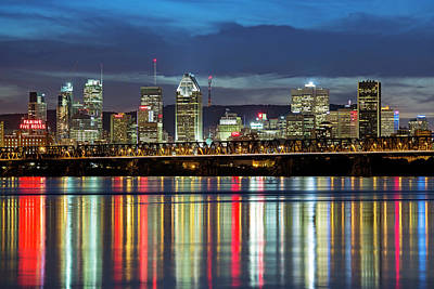 Lachine Photograph - Montreal Skyline by Mircea Costina Photography