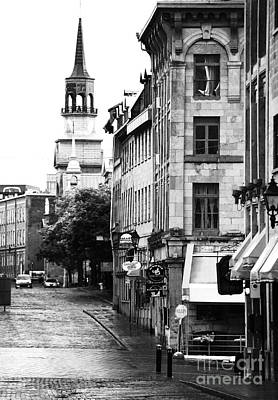 Montreal Places Photograph - Montreal Street In Black And White by John Rizzuto