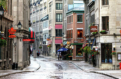 Montreal Street Scene Art Print