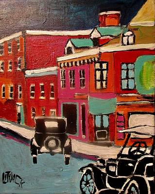Painting - Montreal Then St. Viateur Street by Michael Litvack
