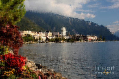 Montreux Switzerland  Art Print by Sergio B