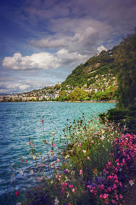 Classy Photograph - Montreux Lake Geneva  by Carol Japp