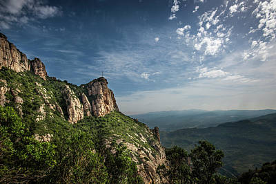 Europe Photograph - Montserrat Mountains by Alida Thorpe