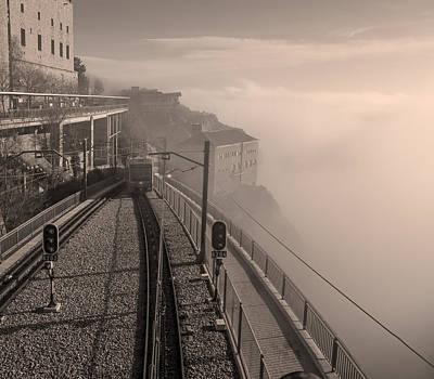 Lucille Ball - Montserrat Winter Morning BW by Joan Carroll