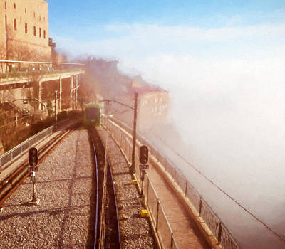 Train Station Photograph - Montserrat Winter Morning by Joan Carroll
