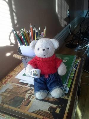Monty At Writing Desk Art Print