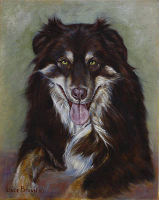 Brown Dog Painting - Monty by Harvie Brown
