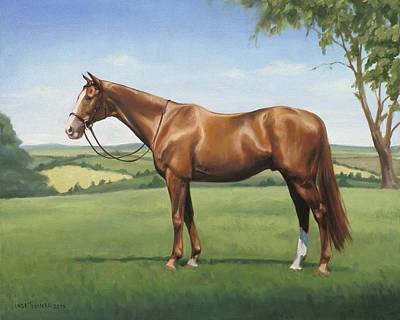 Painting - Monty by Linda Tenukas