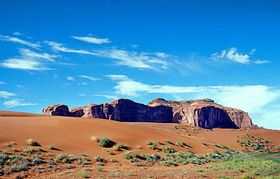 Anasazi Photograph - Monumejnt Valley Sand Dunes by Buddy Mays