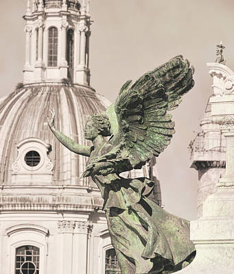 Photograph - Roman Monument Angel  by JAMART Photography