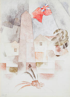 Fine American Art Painting - Monument, Bermuda by Charles Demuth