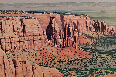 Drawing - Monument Canyon by Dan Miller