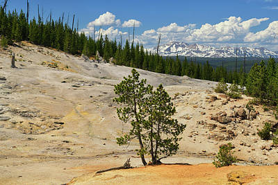 Photograph - Monument Geyser Basin by Greg Norrell