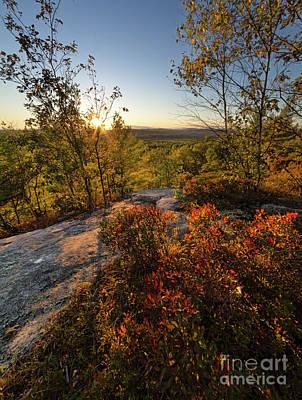 Photograph - Monument Hill Sunset, Leeds, Maine #70047-49 by John Bald