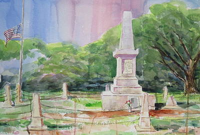 Mike Martin Painting - Monument by Mike Martin