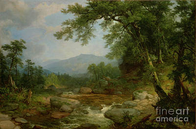 Monument Mountain - Berkshires Art Print by Asher Brown Durand