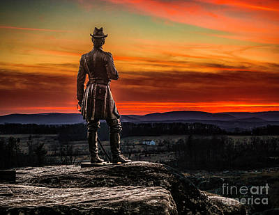 Photograph - Monument Of Gen Warren At Sunset by Nick Zelinsky