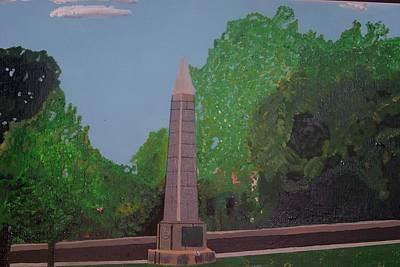Concord Massachusetts Painting - Monument Of The Revolutionary War Of 1776 by William Demboski