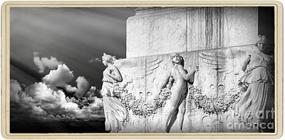 Carrara Marble Wall Art - Photograph - Monument Particular In Rome by Stefano Senise