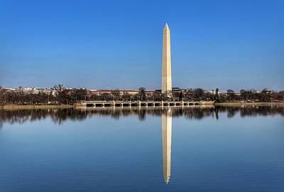 Washington Monument Digital Art - Monument Reflection  by Duane McLarty