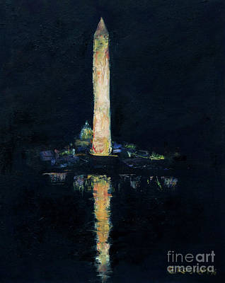 Washington Monument Painting - Monument Reflections by Elizabeth Roskam